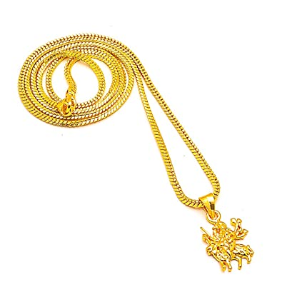 Buy jewar chain pendant sherawali maa kali durga maa one two gram jewar chain pendant sherawali maa kali durga maa one two gram gold plated new design locket mozeypictures Image collections