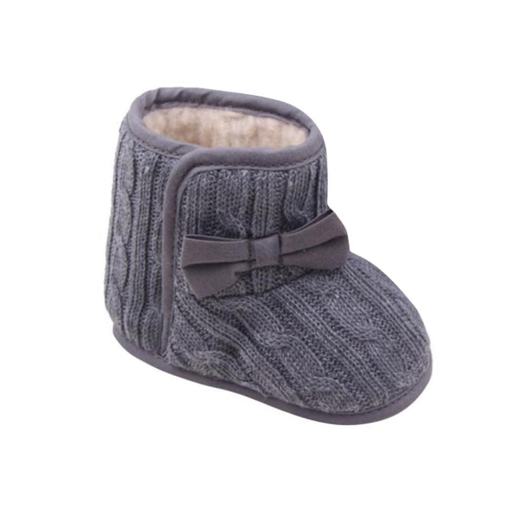 Yogogo - Bottes d'hiver pour bébé - bowknot - Soft Sole - chaussures chaudes Yogogo_001