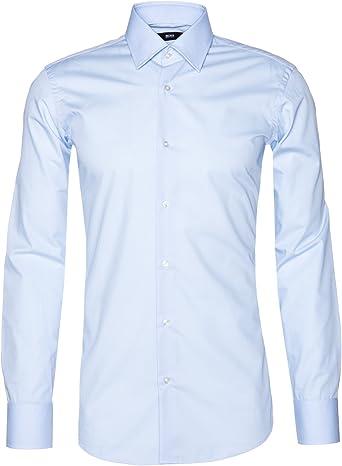 Hugo Boss - Camisa casual - para hombre azul claro 46: Amazon.es ...