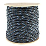 PolyFoam Floating Rope (1/2 inch) - SGT KNOTS - Foam-Core Floating Line - Polypropylene Rope - for Boating, Fly-Fishing, Commercial and Sport Fishing, Camping, Backpacking, More (50 ft - Black)