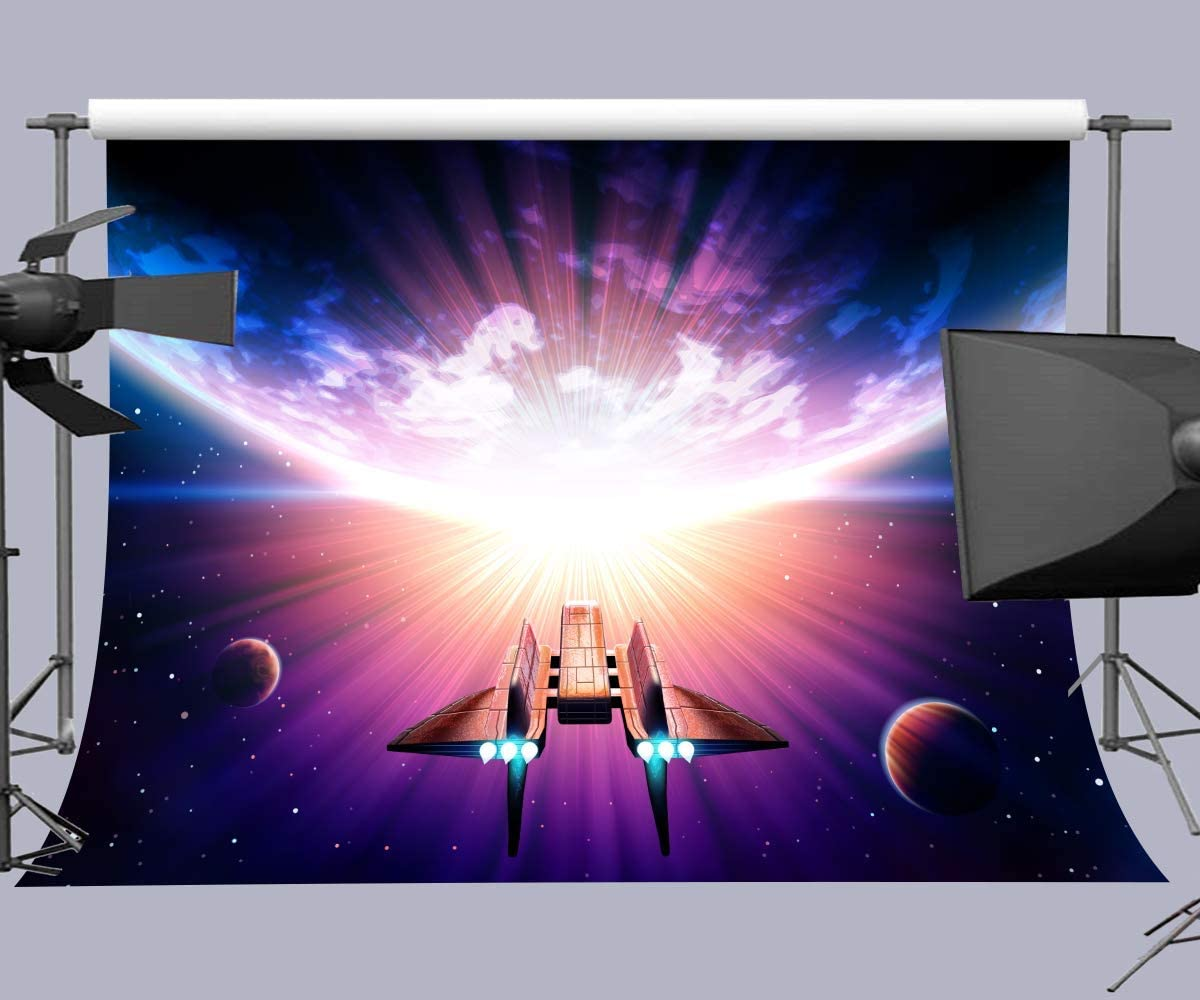 10x6.5ft Background Fighter Space Wars Themes Photography Backdrop Photo Studio Props LHFU484