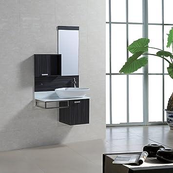 Badmöbel Set Badezimmermöbel Komplettset 80 Cm Aufsatzwaschbecken Mit  Waschbeckenunterschrank Spiegel Schrank