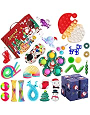 Advent Calendar 2021,Fidget Advent Calendar 2021, Christmas Countdown Calendar 2021, Pop-On-It Advent Calendars, 24DAYS Countdown Calendar Fidget Pack, Fidget Toys Set Boxes
