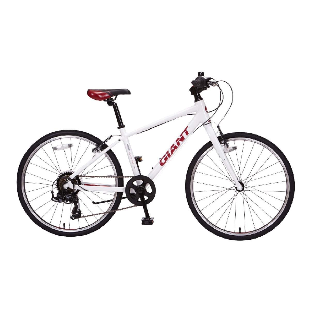 アルミ24インチ7スピードライトポータブル自転車、都市通勤、身長135-150 Cm、一次ロードバイク (Color : White, Design : 7-speed) 7-speed White B07QQN862W