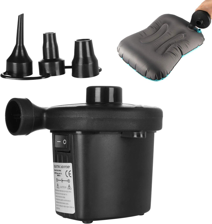 Houkiper AC 220 V Bomba de Aire Eléctrica inflar la bomba de desinflado para Airbed Boat Toy juguetes de acampar Cama de aire colchón de compresión del colchón con el cargador del coche