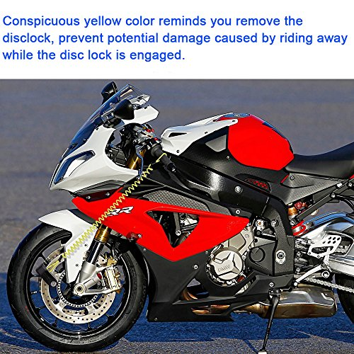 ILamourCar Disc Brake Lock,Alarm Disc Lock,Motorcycle Bike Anti-theft&Waterproof Brake Disc Wheel Alarm Security Lock,110dB Alarm Sound and 6mm Pin with 1.3m Reminder Cable for Motorcycles - Black by ILamourCar (Image #4)