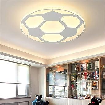 Moderne Kinder Fuball Lampe Deckenleuchte Mit Fernbedienung Wohnzimmer  Schlafzimmer Kinderzimmer Dekor Home Lighting Acryl Warm