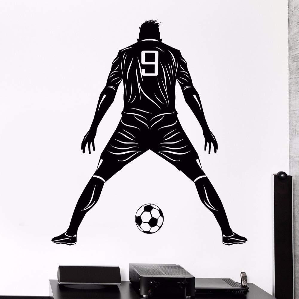 jiuyaomai Futbolista Vinilo Etiqueta de la Pared Jugador de fútbol ...