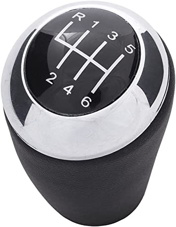 Myshopx K13 Schaltknauf Schalthebel 6 Gang Leder Auto