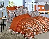 Swanson Beddings One 100% Cotton Tree Branches Boudoir Sham (Orange-Light Grey)