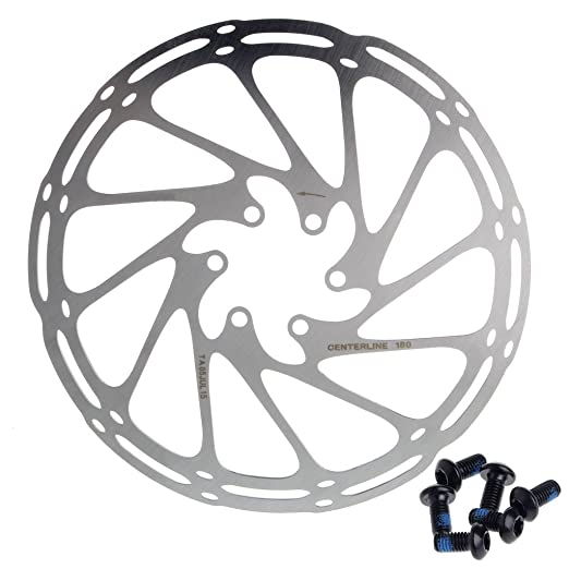Nysunshine - Disco de Freno para Bicicleta (180 mm, 6 Tornillos ...