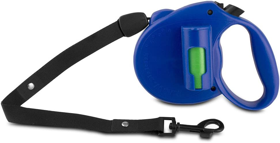 Blue P.A.W Bio Retractable Leash with Biodegradable Pick-up Bags