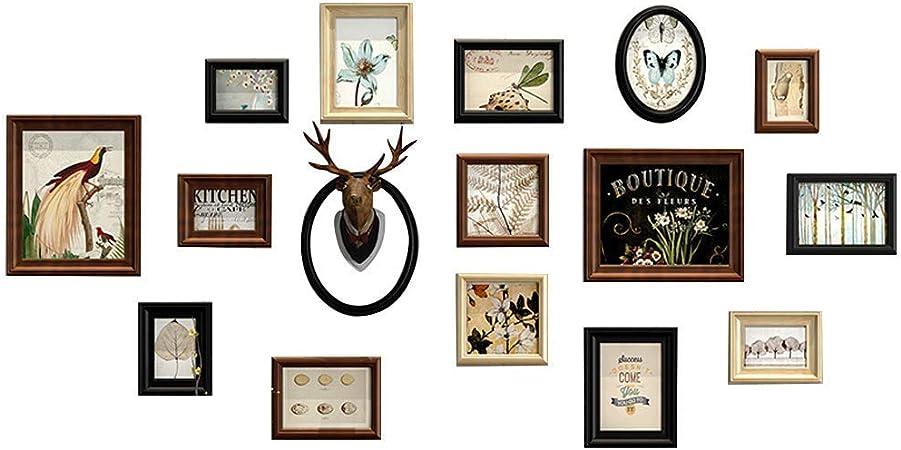 16 Pack de marcos de cuadros de madera Collage | Conjuntos de marcos de fotos para