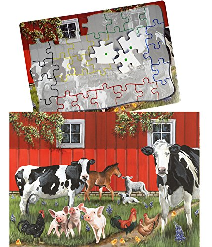 Keeping Busy Red Barn Farm 35 Piece Sequenced Jigsaw Puzzle Engaging Activities / Puzzles / Games for Dementia and Alzheimers for Older Adults