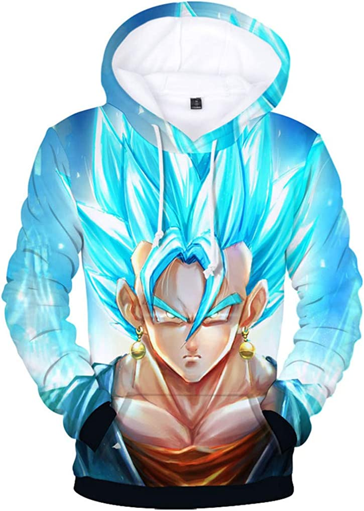 FLYCHEN Boys Fashion 3D Printed Cartoon Neutral Long Sleeve Show Support to Dragon Ball Hoodies