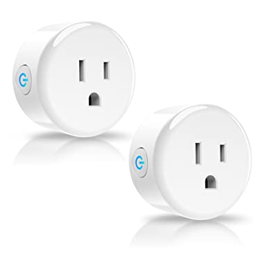 YTE Smart Plug,Wifi Outlet Compatible with Amazon Alexa Google Home IFTTT,no Hub Required,ETL and FCC listed Wifi enabled Remote Control Smart Socket (2Packs)
