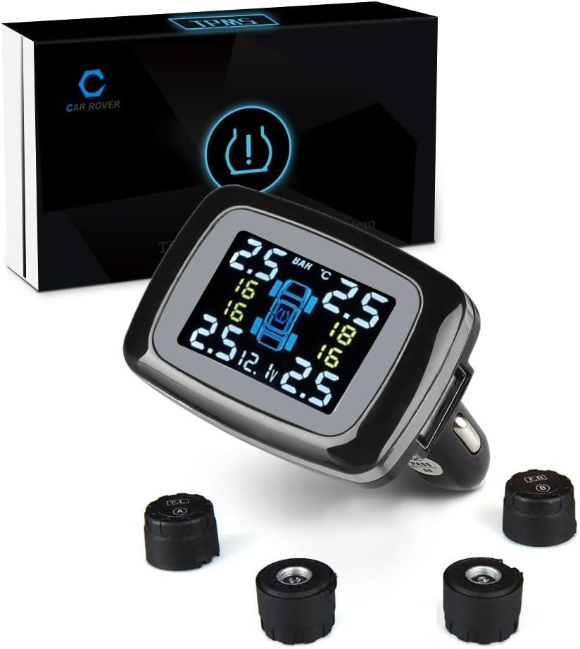 Car Rover® Sensor de presión/monitor( Conjunto) sobre neumático de coche, TPMS Sistema inalámbrico de seguridad de alarma ( Sensor externo)