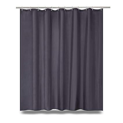 WUFAY Grey Fabric Shower Curtain 2018 New Dark Curtains For Bathroom Including 12 Hooks
