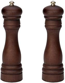 product image for Fletchers' Mill Federal Salt & Pepper Mill, Walnut Stain - 8 Inch, Adjustable Coarseness Fine to Coarse, MADE IN U.S.A.