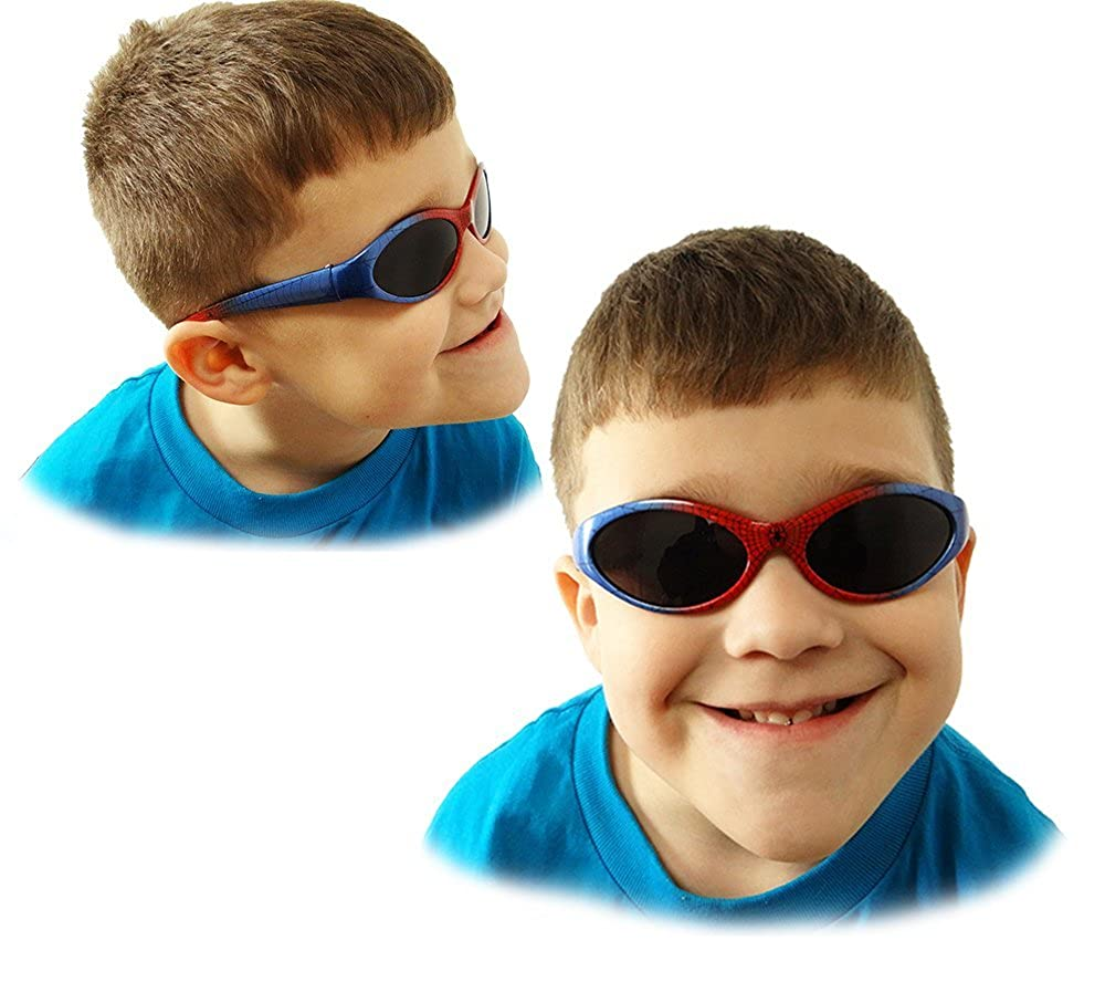 2 pairs of Spiderman Sunglasses for Boys Spider-L-REDBLU-BLURED-2xCombo