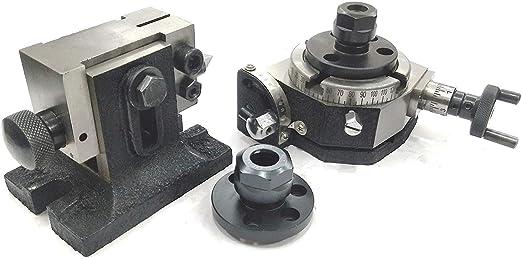 Mesa de mecanizado rotatoria de 80 mm para inclinación y ...