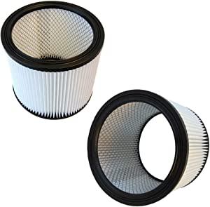 HQRP Cartridge Filter 2-Pack compatible with Shop-Vac 4045 12B225A 12B300A 12RT300 14RT400A 16RHT650C Vacuum Cleaner
