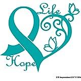 Amazon.com: Colon Cancer Ribbon, blue, dark blue, printed ...