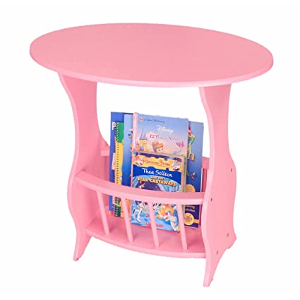 Amazon.com: Practical Accent End Table with Magazine Rack, Perfect ...