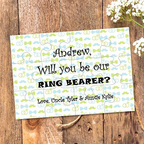 Ring Bearer puzzle proposal Ask Ring security Ring bearer gift