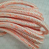 5/8'' By 100' 12 carrier, 24-Strand Arborist Bull Rope White/Orange