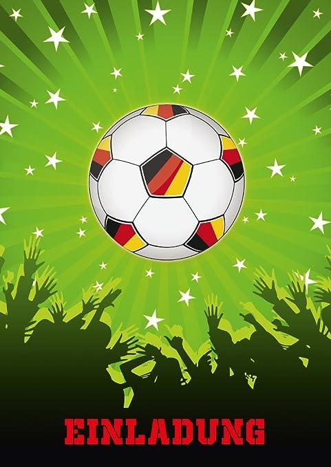 Fútbol de invitaciones (Juego 2): 11 Fútbol de tarjetas de ...