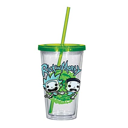 00589c816d30 Amazon.com  Rick and Morty 16 Oz. Acrylic Travel Cup  Toys   Games