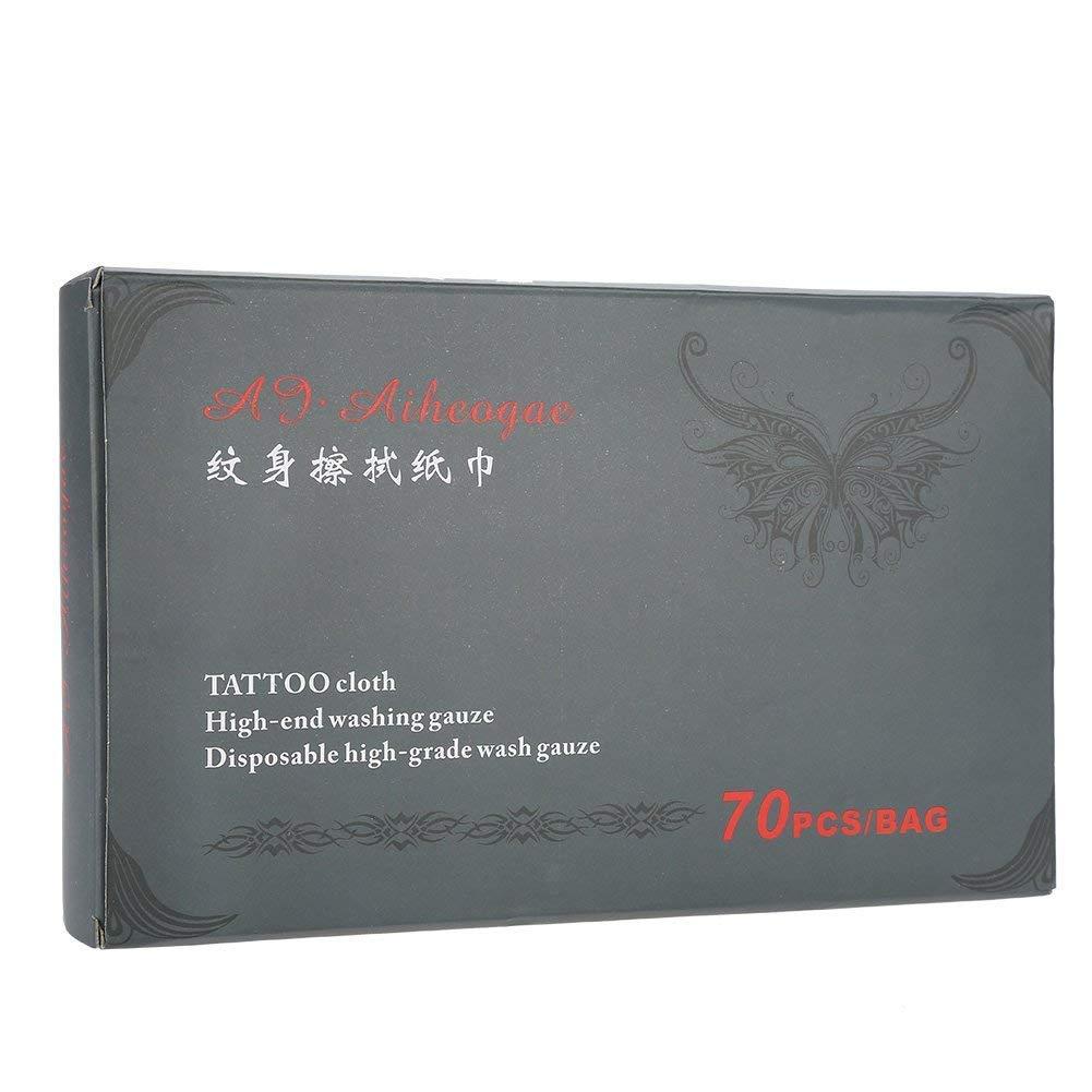 maquillaje algod/ón desechables Paquete de 70 servilletas de tatuaje para maquillaje de algod/ón est/éril