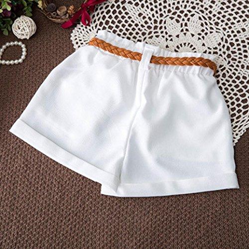 Set sin Temporada marino mangas Shorts Floral Ropa Adeshop verano Casual suelta Azul Blusa encanto T shirt Tops con de 2pcs Moda Match Chic Girls Top Belt t4qfx7P