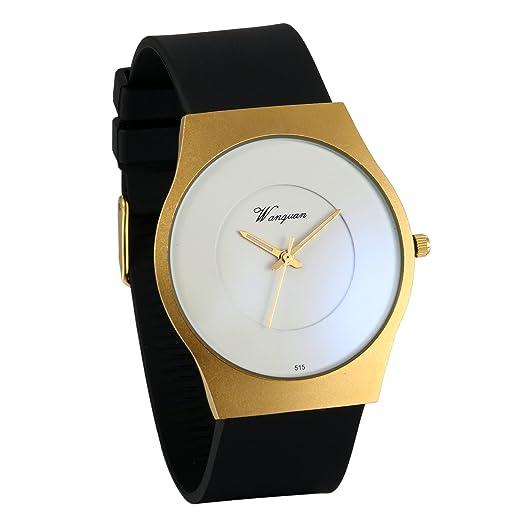 fc61f3e2f5fe JewelryWe Reloj de Hombre Caballero Negro Dorado