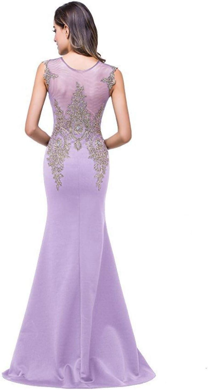 zhouzhou666 Vestito Donna Elegante Vestito da Sera Donna Elegante Abito da Sera Floor Length Viola chiaro