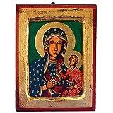 Czestochowa (Black Madonna) Greek Painted Icon