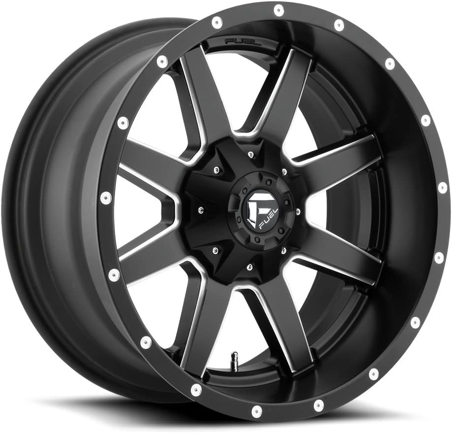 FUEL Maverick NBL-Gloss BLK MIL Wheel with Painted 20 x 10. inches //8 x 170 mm, -18 mm Offset