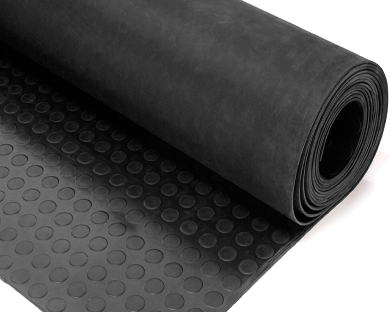 Suelo de Goma negro antideslizante. Altura 120 cm de Guidetti Service ®