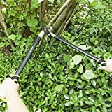 SONGMICS Compound Action Bypass Lopper 27-Inch Length with 20-Inch Handle Shock Absorbing UGLT67Y