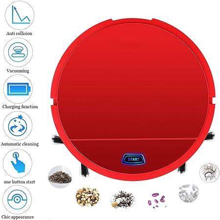 Robot Aspirador, Creativo Mini Giro Automático Aspiradora Robotica Inteligente para Piso Duro y Alfombra Vacuum Cleaner Limpio (Color : Red): Amazon.es: Deportes y aire libre