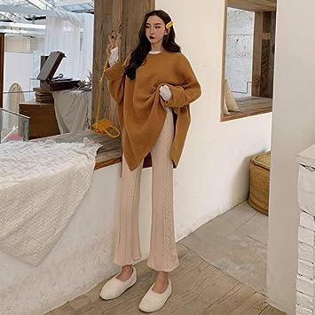 Ckbyth Pantalones Pantalones Mujeres Retro Punto Punto Cintura Alta Pantalones Flare Twist Slim Tobillo Longitud Para Mujer Elasticidad Kawaii Pant Trendy Elegante Amazon Es Deportes Y Aire Libre