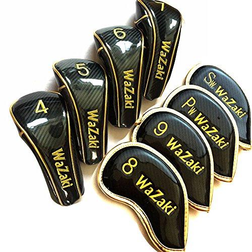 Japan WaZaki Black Finish WL-IIs 4-SW Combo Hybrid Irons USGA R A Rules Golf Club Set + Headcover(pack of 16,Regular Flex) by wazaki (Image #7)