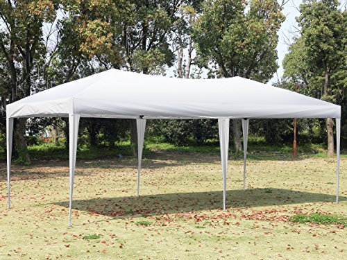 CHARAVECTOR 10x20 ft Heavy Duty EZ Pop Up Tent Canopy Gazebo Pavilion Commercial Outdoor Party Portable Instant Wedding Patio Folding Shelter (Heavy Duty Lightweight Instant Steel)