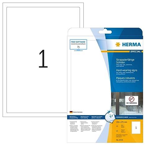 Amazon.com: Herma 4581 - Etiquetas autoadhesivas resistentes ...