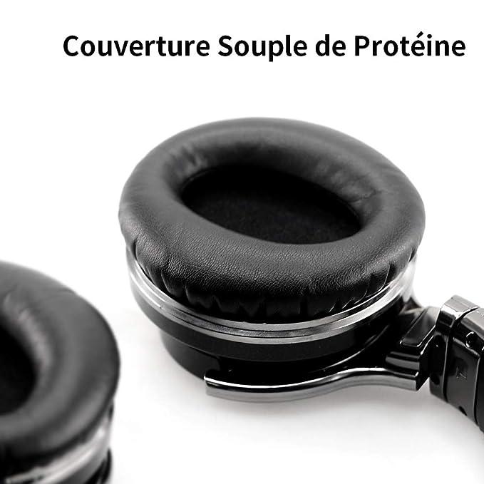 Cowin E7 - Auriculares de diadema estéreo, Bluetooth 4.0, NFC, inalámbricos, con micrófono, ligeros, 30 horas de autonomía, color negro: Amazon.es: ...