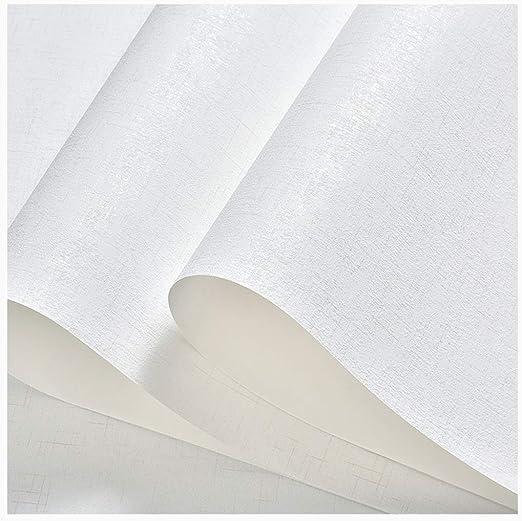 Amazon Com Lhh Textured Wallpaper Roll 3d Plain Color Sticker Non Woven For Home Interior Design Living Room Tv Background Hotel Color White Size W 0 53 X L 9 5m Home Kitchen