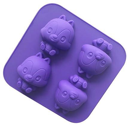 Moldes de magdalenas reutilizables para hornear pasteles, 14,5 x 14 x 2,