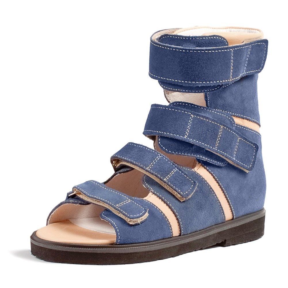 Memo Basic 1CH Cerebral Palsy AFO/KAFO Brace-Like Stability Leather Sandal, 38 (6K) by Memo