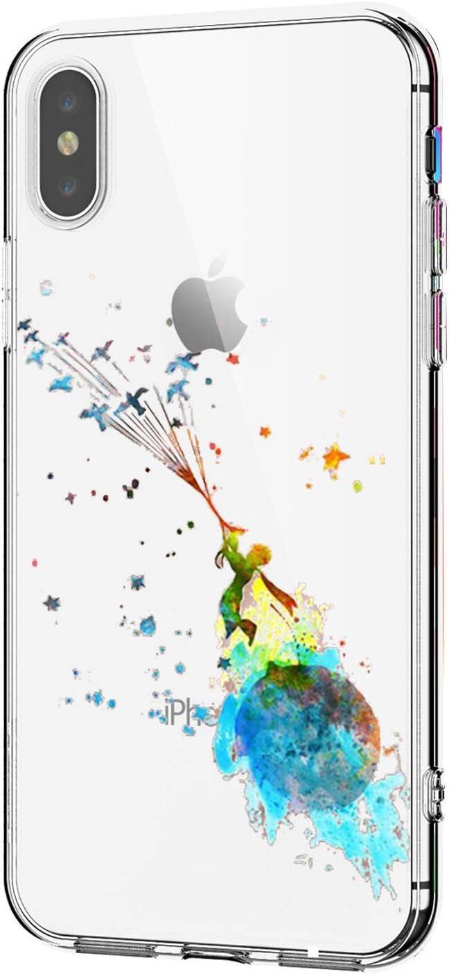 Oihxse Transparente Silicona Case Compatible con iPhone SE 2020/iPhone 7/iPhone 8/iPhone 9 Funda Suave TPU Protección Carcasa Moda Dibujos Animados Divertida Diseño Ultra-Delgado Cubierta-Principito